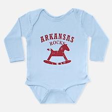 Arkansas Rocks Long Sleeve Infant Bodysuit