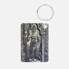 Te Prohm Temple Wall Carvings Keychains