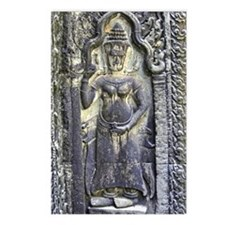 Te Prohm Temple Wall Carvings Postcards (Package o
