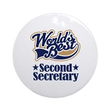 Secondary Secretary Gift Ornament (Round)