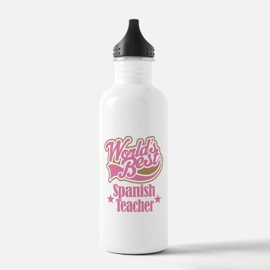 Spanish Teacher Gift Sports Water Bottle