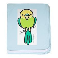 Yellow/Green Parakeet baby blanket