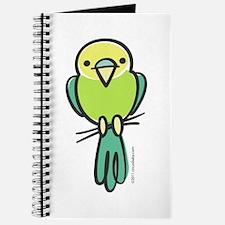 Yellow/Green Parakeet Journal