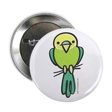 "Yellow/Green Parakeet 2.25"" Button"
