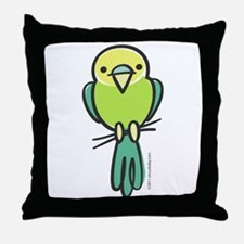 Yellow/Green Parakeet Throw Pillow