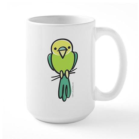 Yellow/Green Parakeet Large Mug