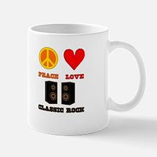 Peace Love Classic Rock Mug