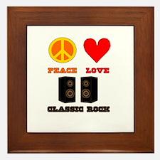 Peace Love Classic Rock Framed Tile