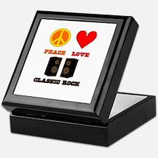 Peace Love Classic Rock Keepsake Box
