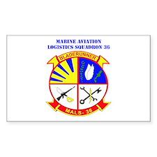 Marine Aviation Logistics Squadron 36 with Text St