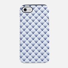 Blue White Quilt iPhone 7 Tough Case