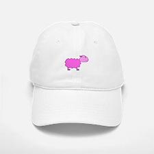 Bright Pink Sheep Baseball Baseball Cap