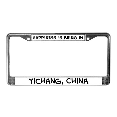 Happiness is Yichang License Plate Frame