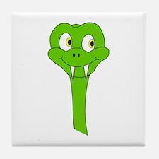 Green Snake Cartoon Tile Coaster