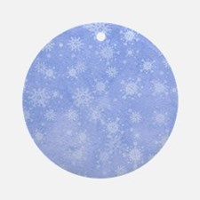 Soft Snowflakes Ornament (Round)