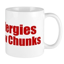 Allergies Blow Chunks Mug