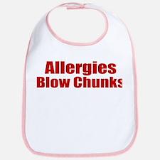 Allergies Blow Chunks Bib