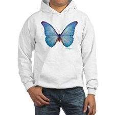 gorgeous blue morpho butterfly Hoodie
