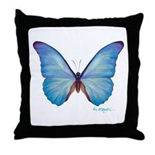 gorgeous blue morpho butterfly Throw Pillow