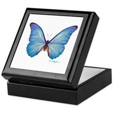 gorgeous blue morpho butterfly Keepsake Box