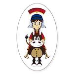 Cute Roman Soldier Sticker (50 Pk)