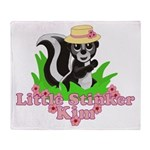 Little Stinker Kim Throw Blanket