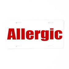 Allergic Aluminum License Plate