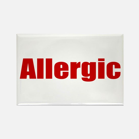 Allergic Rectangle Magnet
