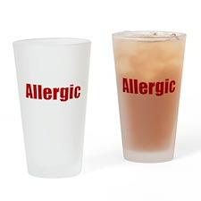 Allergic Drinking Glass
