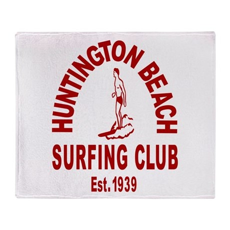 Huntington Beach Surfing Club Throw Blanket