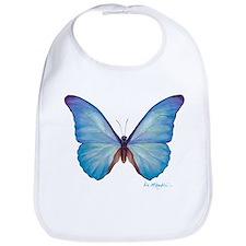 gorgeous blue morpho butterfly Bib
