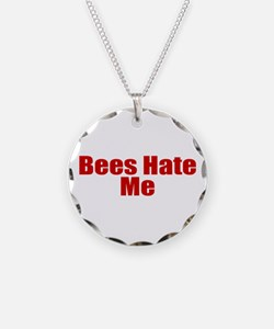 Bees Hate Me Necklace Circle Charm