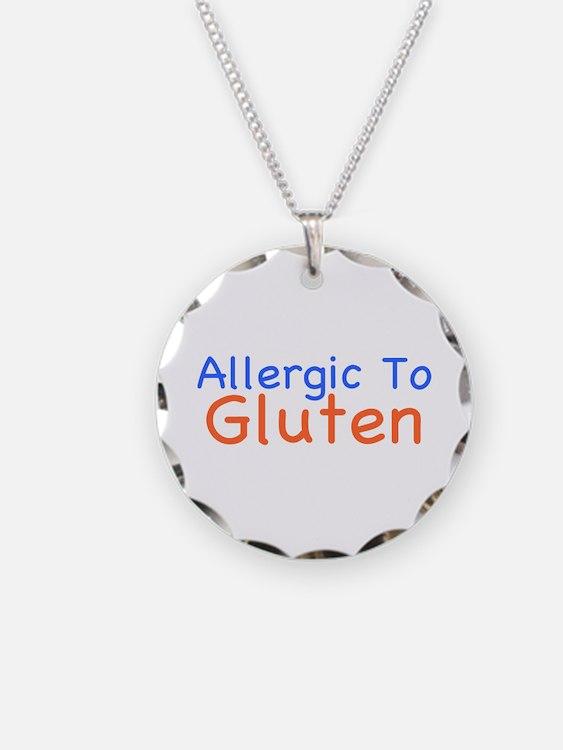 Allergic To Gluten Necklace