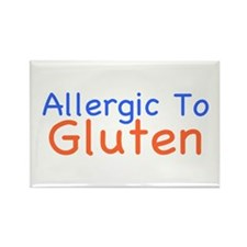 Allergic To Gluten Rectangle Magnet