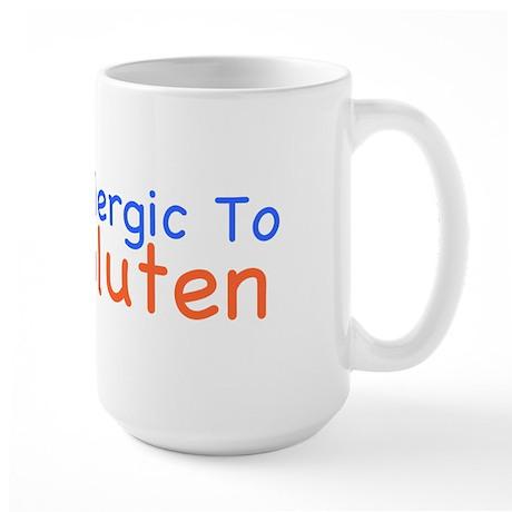 Allergic To Gluten Large Mug