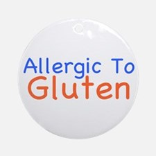 Allergic To Gluten Ornament (Round)