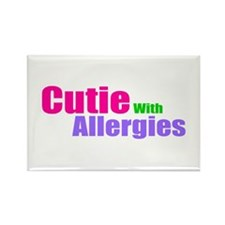 Cutie With Allergies Rectangle Magnet