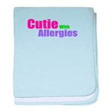 Cutie With Allergies baby blanket