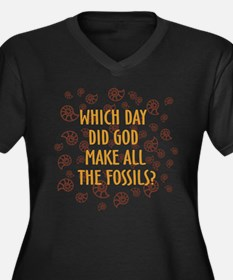 Which Day Did God Make Fossils? Women's Plus Size