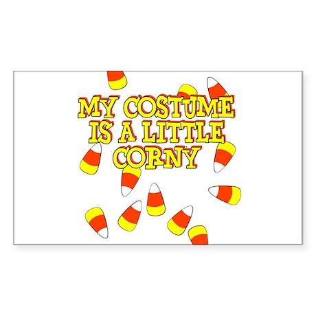 Corny Costume Sticker (Rectangle)