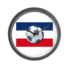 Serbia & Montenegro Soccer Wall Clock