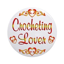 Crocheting Lover Ornament (Round)