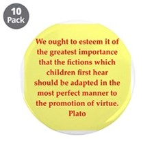 "Wisdom of Plato 3.5"" Button (10 pack)"