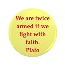 "Wisdom of Plato 3.5"" Button"