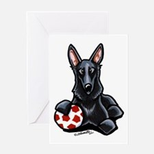 Black GSD Soccer Pro Greeting Card
