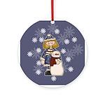 Snowman Friend Ornament (Round)