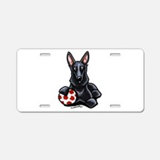 Black GSD Soccer Pro Aluminum License Plate