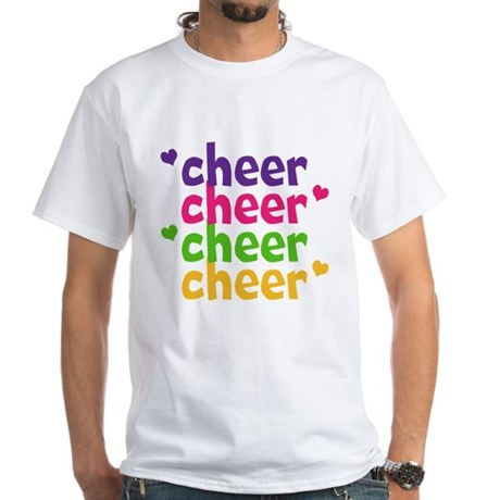 Cheer Hearts Adult White T-Shirt