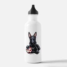 Black GSD Soccer Pro Water Bottle