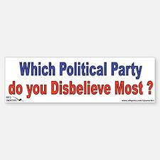 Which Political Party do you Bumper Bumper Sticker